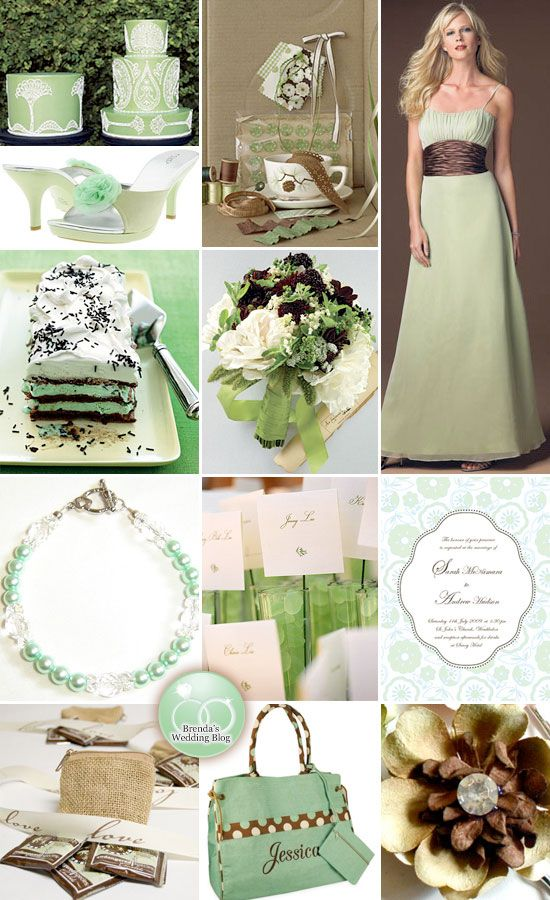 Mint Green and Chocolate Brown Wedding