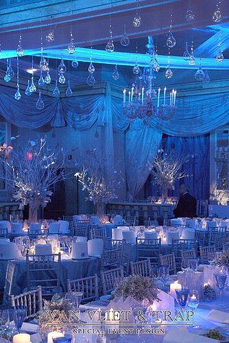 A beautiful winter wonderland! Winter Theme Fundraiser at Pierre Hotel-1 by Van Vliet & Trap, via Flickr