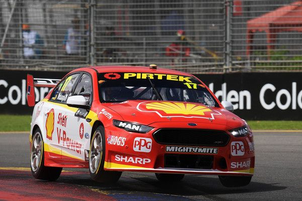 Scott Mclaughlin Drives The 17 Shell V Power Racing Team Ford Falcon Fgx During Qualifying For Supercars Adelaid Australian Cars Super Cars Aussie Muscle Cars