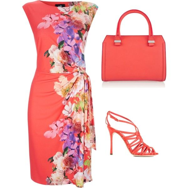 Simple flowers by shay1245 on Polyvore featuring polyvore, fashion, style, House of Fraser, Sergio Rossi and Victoria Beckham