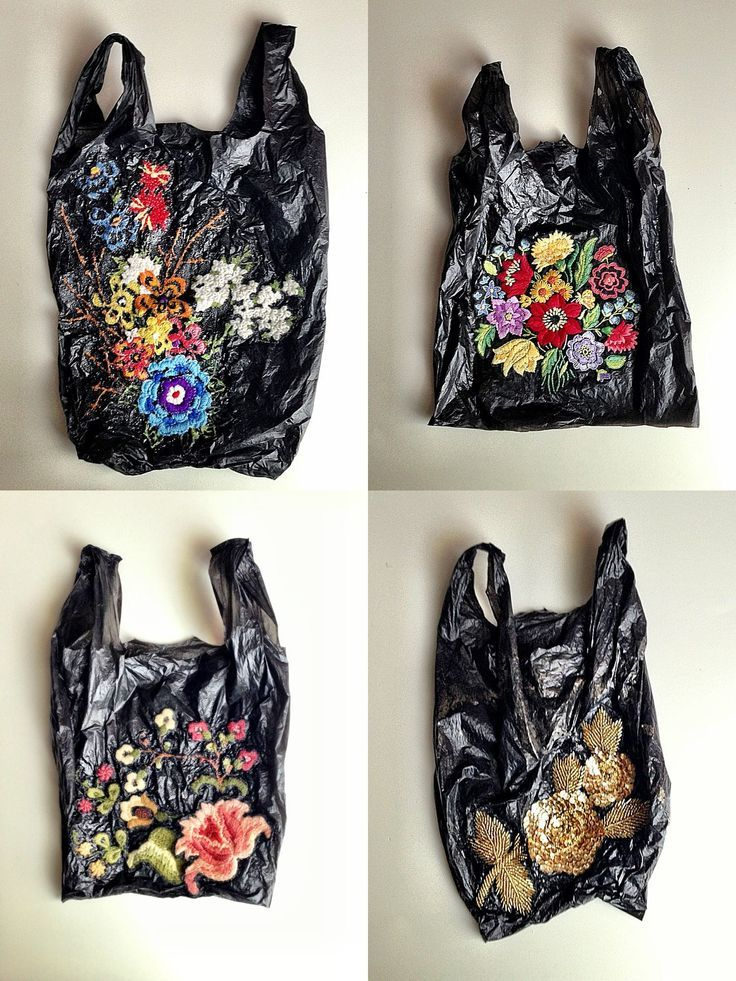 embroidered plastic bags