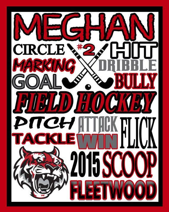FIELD HOCKEY field hockey poster field by PinksPerfections