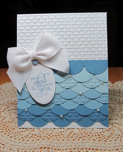 Twisted Sisters three Shades of Blue by JD from PAUSA - Cards and Paper Crafts at Splitcoaststampers