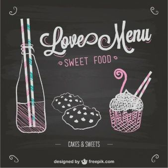 Love menu chalkboard template