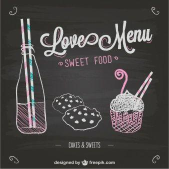 Love menu chalkboard template