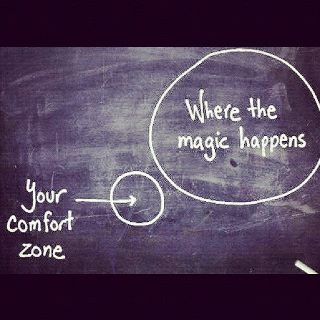 You need to live your professional life on the edge. That's where all the good stuff happens....