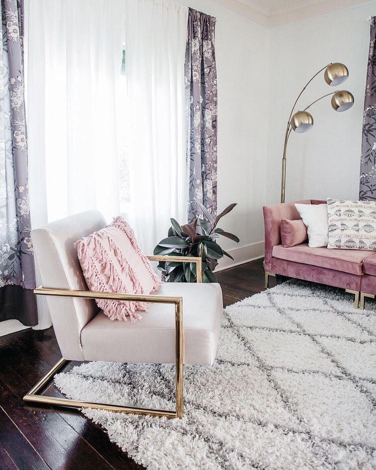 Modern Glam Chic Style Wohnzimmer Gold Samt Luxe Home Decor