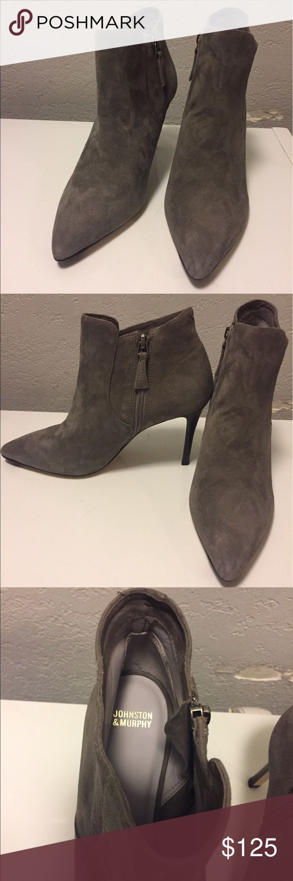 Johnston & Murphy grey suede booties New Johnston & Murphy Shoes Ankle Boots & Booties
