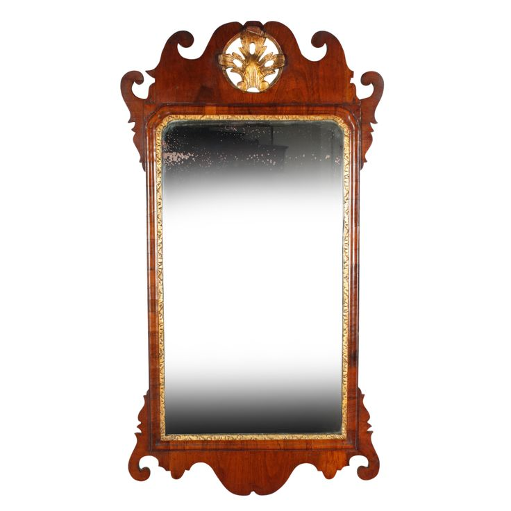 18th Century George II Walnut Mirror