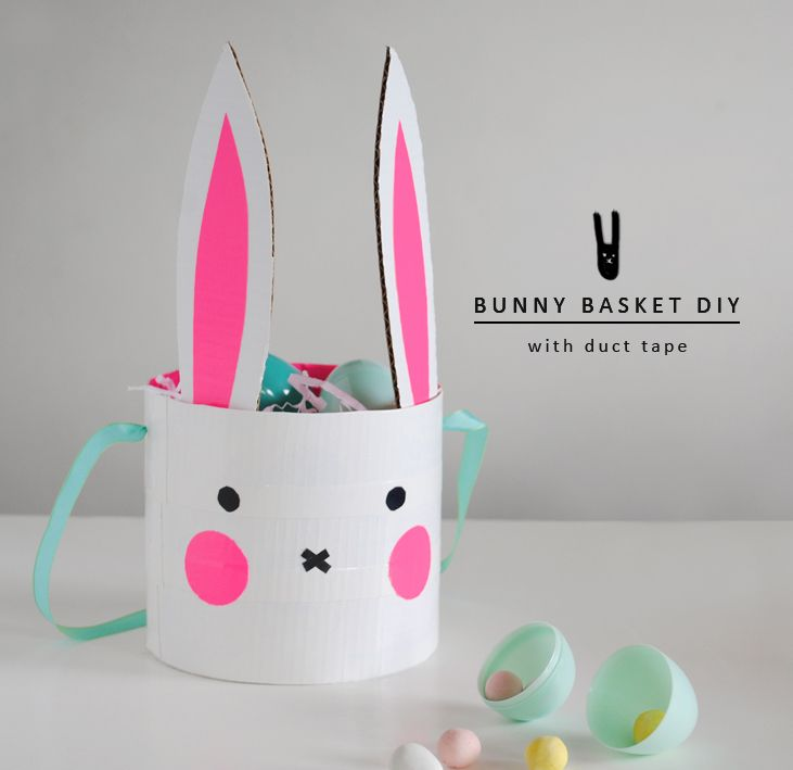 87 best easter images on pinterest easter crafts for kids and easter crafts for kids diy bunny basket with duct tape negle Image collections