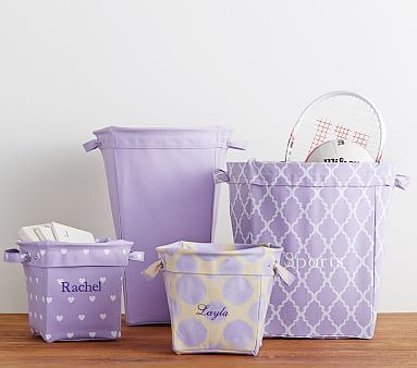 Lavender Canvas Storage #pbkids