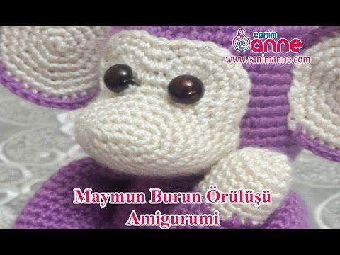 Knitting Toy Monkey Nose Knitting – YouTube