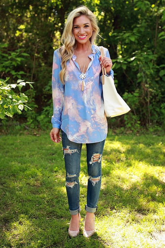 Juniper Darling Marble Print Top