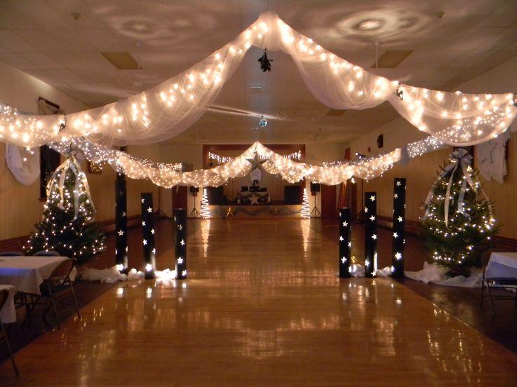 Streamer with lights winter wonderland ️⛄️ pinterest