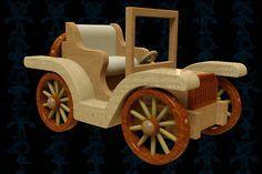 Old Car Wooden Toy - STEP / IGES,STL,SOLIDWORKS,Parasolid - 3D CAD model - GrabCAD