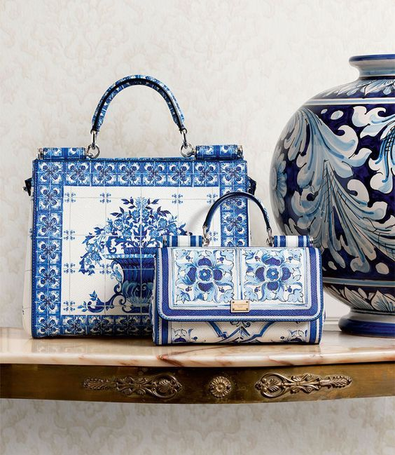 Tiled Printed Bags by Dolce & Gabbana