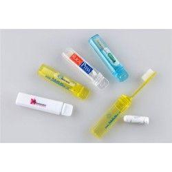 Reise-tannbørste med tannkrem med logotrykk