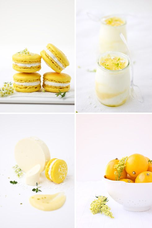 Meyer lemon semifreddo and some macarons...