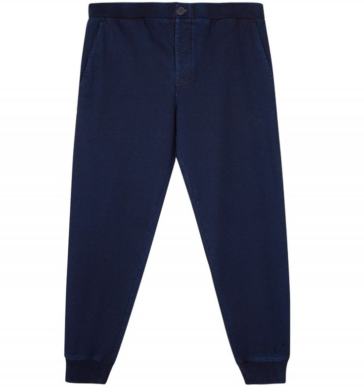 Edwin TRACK PANT Edwin Track Pant in Dark Indigo. Based on vintage designs, these Edwin sweatpants are cut from soft cotton terry jersey and dyed with genuine indigo for a characteristic finish. Due to the natural qualities of Indigo dye, the sweatpants will develop a unique patina of fading over time.  #menswear #edwin #sefton #newarrivals