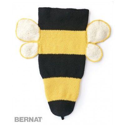 Bumble Bee Crochet Snuggle Sack  Bernat   Yarnspirations  Free Pattern   New Pattern   Slumber Party  