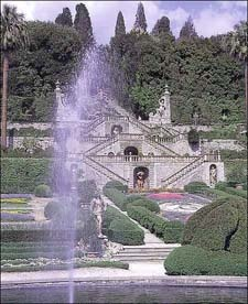 Begun in 1652, the garden of Villa Garzoni in Collodi, Italy, with its grand axial stairs leading to the great cascade on the upper steep slope, is the quintessential Baroque garden composition.