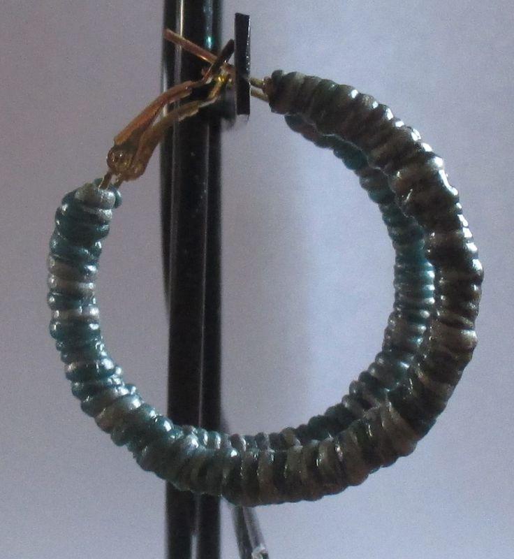boucles d'oreilles anneaux créoles fimo pâte polymère torsade cadeau de noël : Boucles d'oreille par musacreation