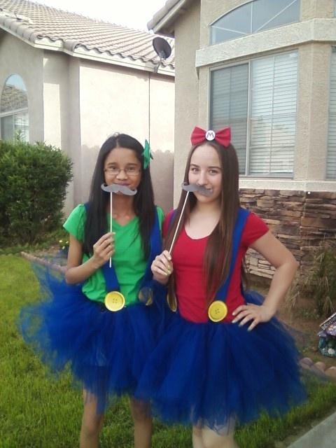 Homemade Mario and Luigi Tutu Costumes