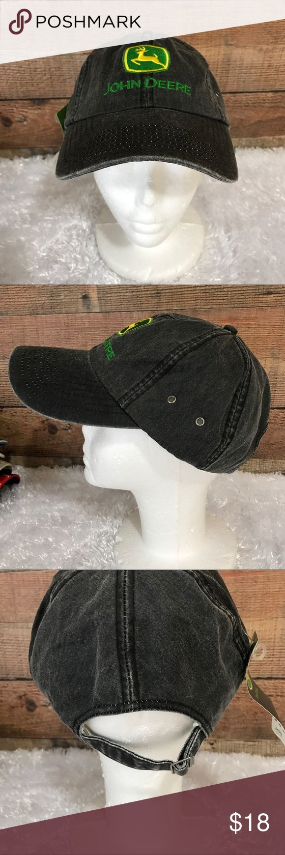 John Deere Gray Cotton Trucker Hat NWT New cotton gray Band adjustable hat John Deere Accessories Hats
