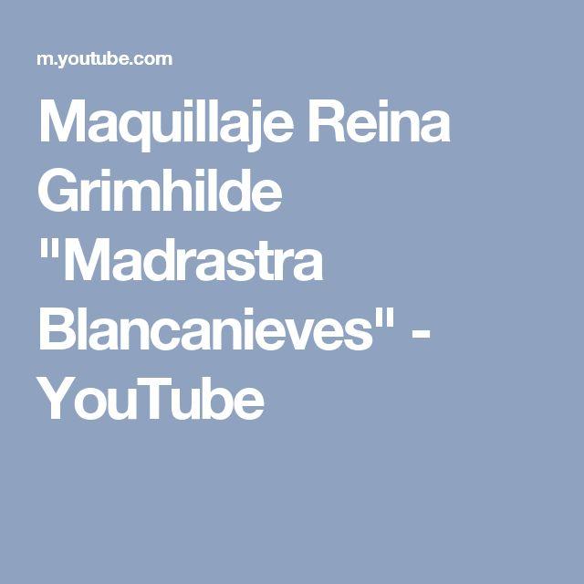 "Maquillaje Reina Grimhilde ""Madrastra Blancanieves"" - YouTube"