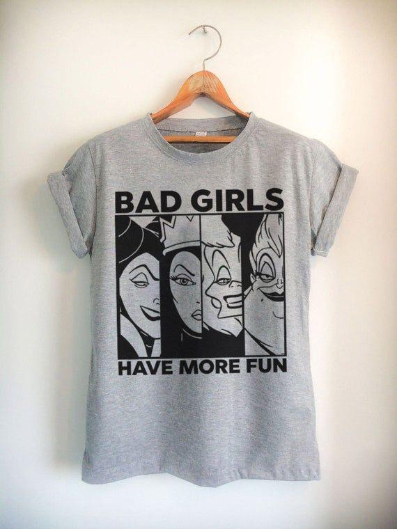 Cute Disney Group Shirts Custom Any Color or Style Villain Bad Girls Have More Fun Shirt
