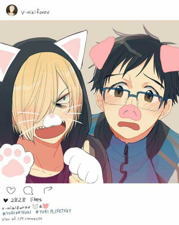 Yurio y Yuri súper kawaii!!!!!!! Y violables obvio 7u7