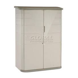 "Rubbermaid Large Vertical Outdoor Storage Shed FG374601OLVSS, 56""L X 32""W X 77""H"