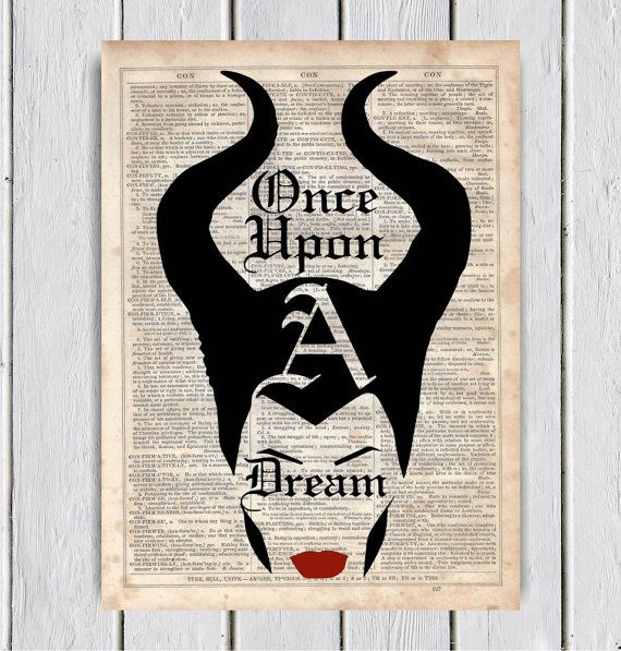 Once Upon A Dream Maleficent Quote by MySilhouetteShoppe on Etsy