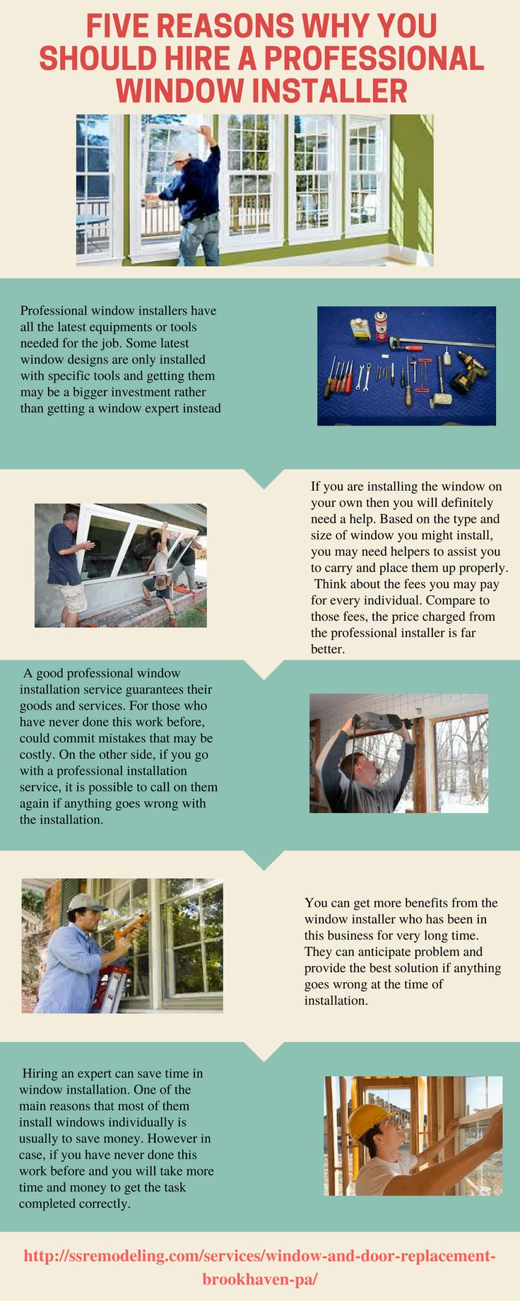Five Reasons Why You Should Hire a Professional Window Installer http://www.liveinfographic.com/i/five-reasons-why-you-should-hire-a-professional-window-installer/ Tags: #infographic  #infographics #popular #pinterest #pinterestinfographics