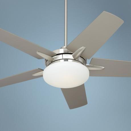 "52"" Casa Endeavor Brushed Nickel Silver Ceiling Fan - #90515-X3641   LampsPlus.com"