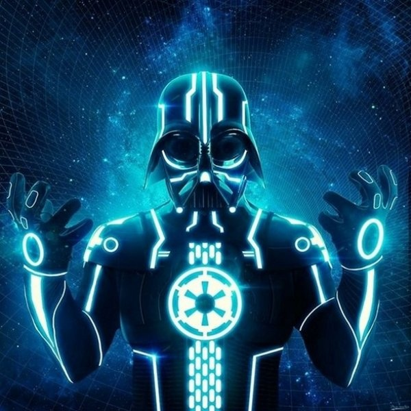 TRON Vader: Darth Vader, Darth Tron, Geek Art, Stars War Art, Tron Vader, Digital Art, Dark Side, Tronvader, Starwars