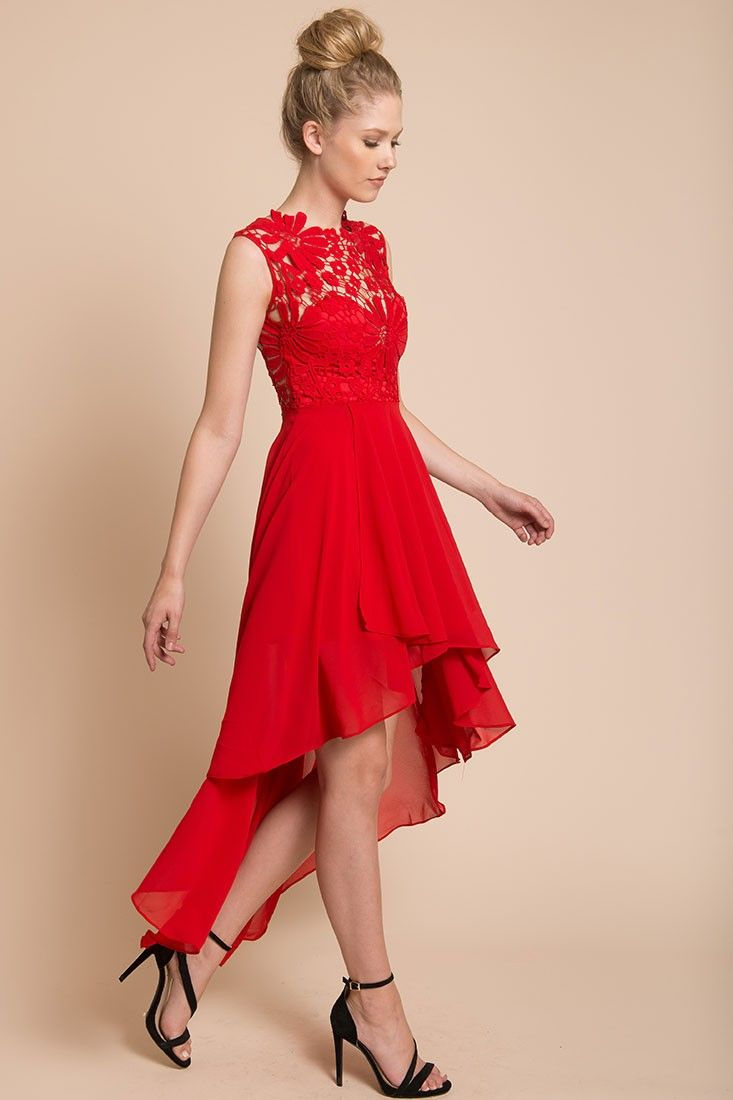 Ivy Night Out Dress Red