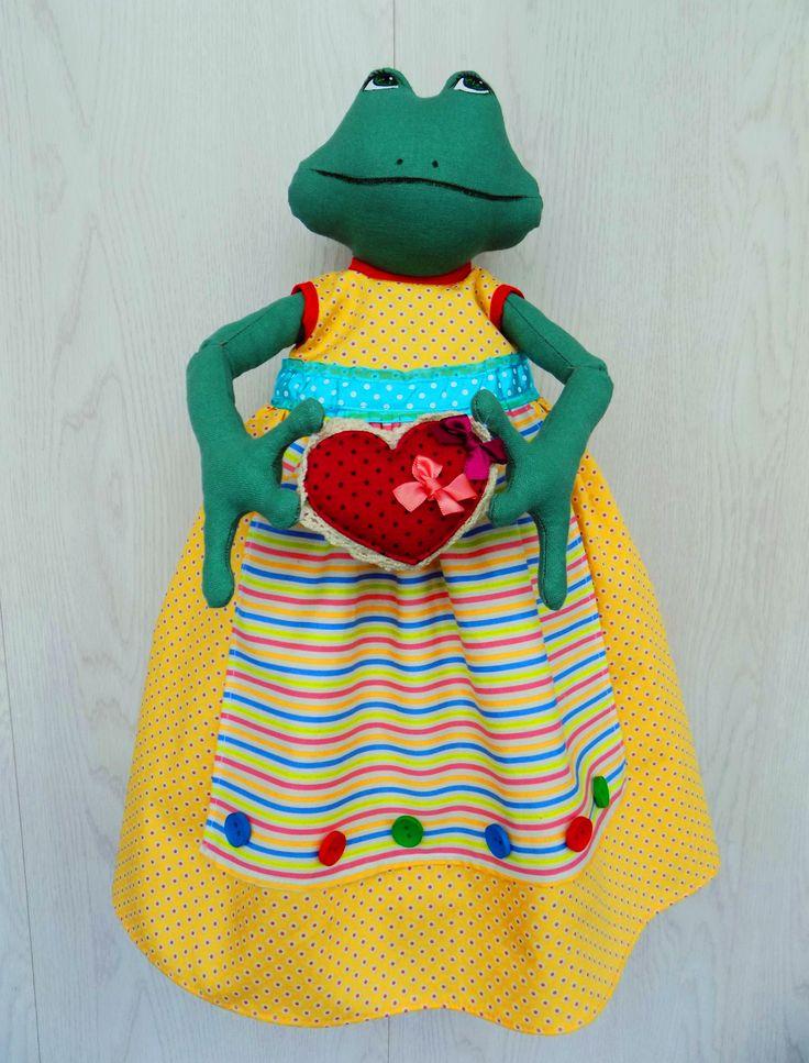 Лягушка-пакетница. The frog fabric