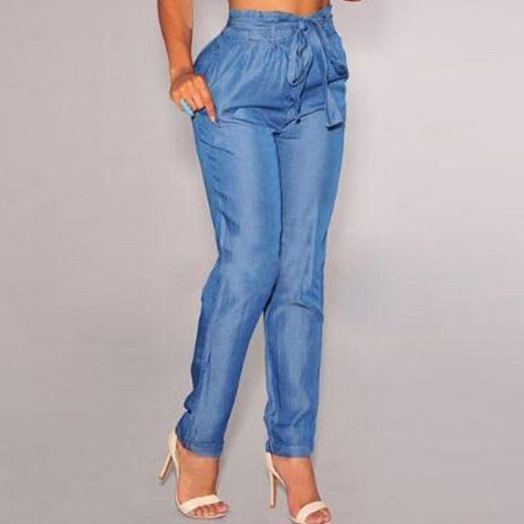 Blue Denim Belted High Waist Harem Pants New Arrival Women Pants Female Trousers Casual Jeans for Women Clothing Vestidos Blue Denim Harem Pants High Waist Harem Pants Women Pants Online with $100.58/Piece on Jf888jf's Store | DHgate.com