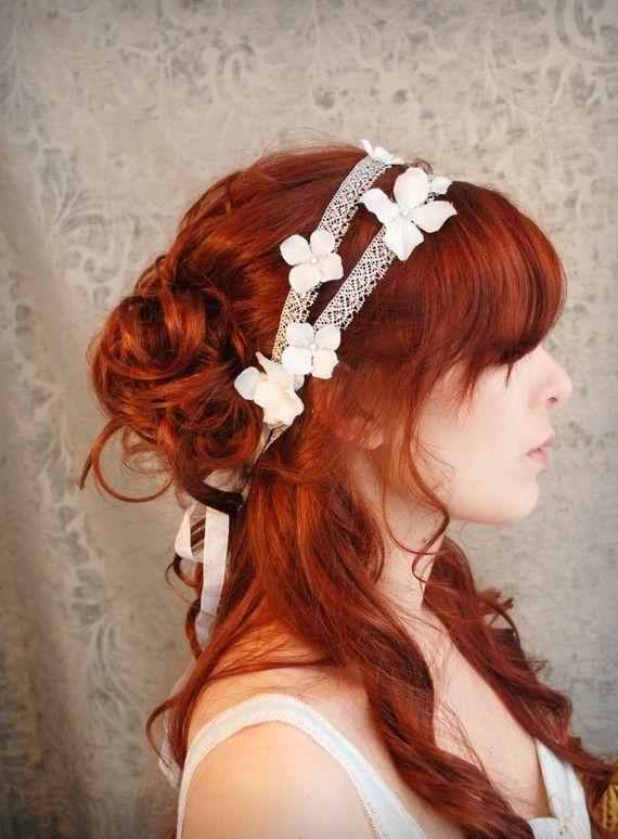 Love this color: Wedding Accessories, Petals Headbands, Wedding Hair, Flower Headbands, Silver Hair, Hair Accessories, Blue Flower, Hair Color, Blue Petals