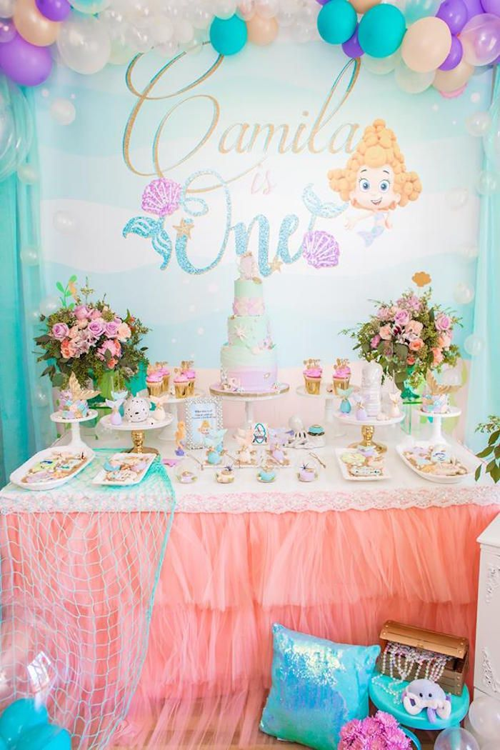 Bubble Guppies Birthday Party On Kara S Party Ideas Karaspartyideas Com 25 Bubble Guppies Party Bubble Guppies Birthday Party Baby Birthday Party Girl