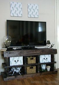 inspired pallet wood tv console, diy, how to, pallet, repurposing upcycling