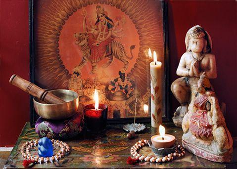 Altars:  Hindu Altar.