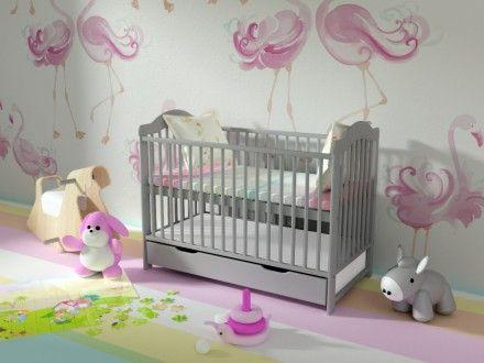 Łóżeczko z funkcją tapczanika ALEK - od 229 zł  Łóżeczko dziecięce dostępne jest w różnych kolorach: biel, szare, mięta, sosna, wenge, orzech.  MAMAANIA.COM.PL