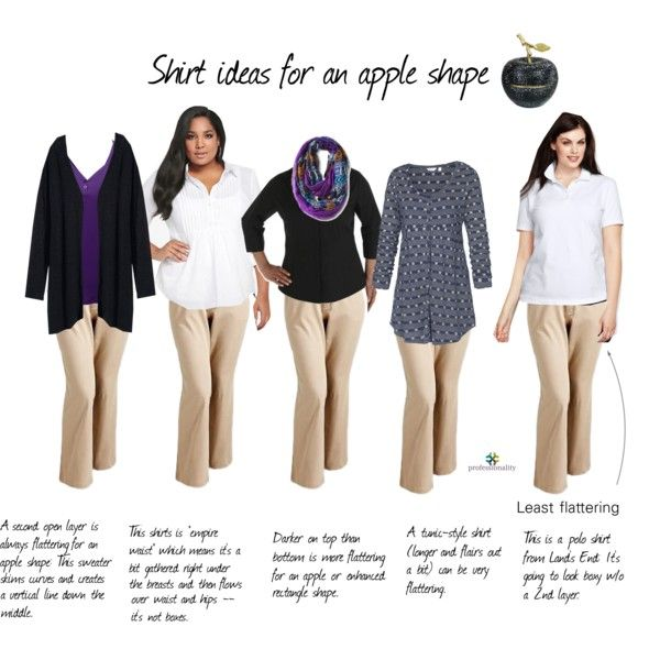 Shirt ideas for an apple shape by professionality on Polyvore featuring Fat Face, H&M, Doublju, Riders by Lee, Old Navy and D.L. & Co.