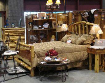 Cedar Bed - Full - Queen - Rustic Bed, Western Bed Frame, Rustic Bed Frame, Rustic Furniture, Western Bedroom Decor, Handmade