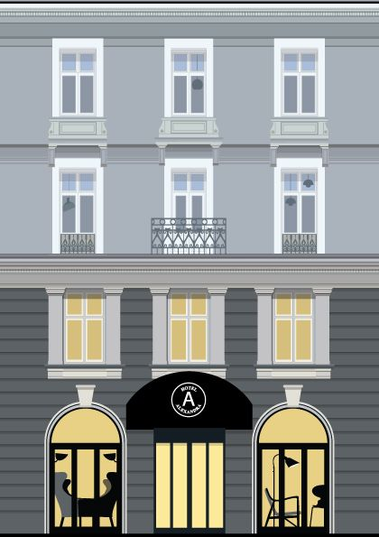 Hotel Alexandra illustrated by #Sivellink