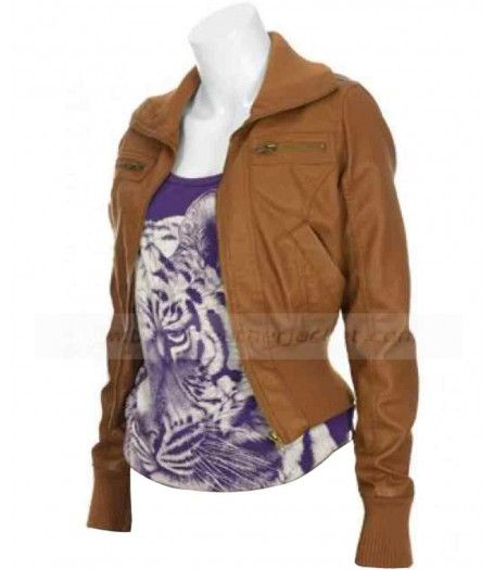 Movie Drive, Christina Hendricks (Blanche) Ladies Brown Leather Jacket for sale at Suitable Price $179.00. Buy Online Now!. #MovieJacket #Drive #ChristinaHendricks #Blanche #BrownJacket #LeatherJacket #WomenJacket #Style #Coat #WomenFashion