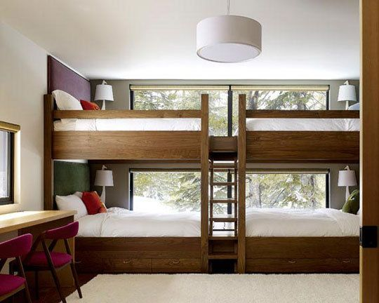 LOVE the idea of having a guest room w/ full sized bunk beds - especially when you have a family as big as mine that comes to visit!  :)
