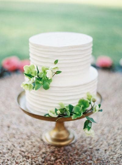 Torta de novios sencilla. / pastel del matrimonio de dos pisos